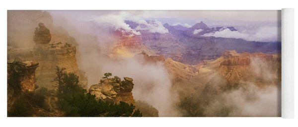 Storm In The Canyon Yoga Mat