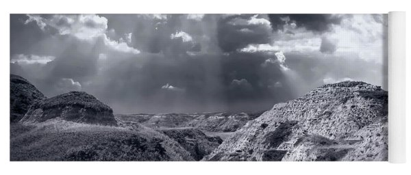 Storm Over The Badlands Yoga Mat