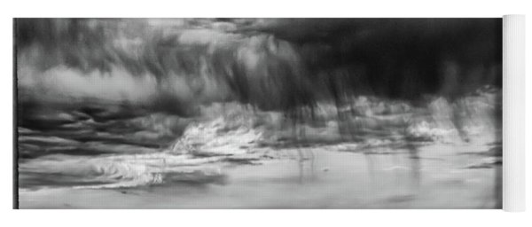 Stormy Sky In Black And White Yoga Mat
