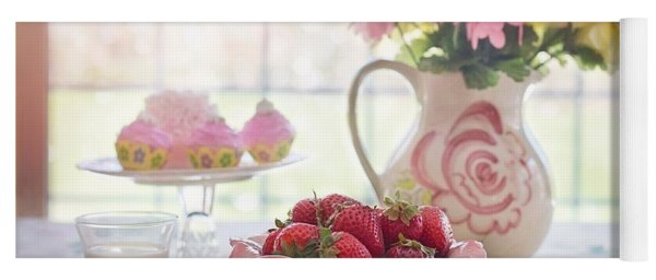 Strawberry Breakfast Yoga Mat