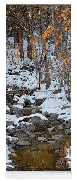 Strawberry Creek In Winter - Idyllwild Yoga Mat