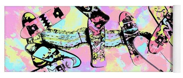 Street Sk8 Pop Art Yoga Mat