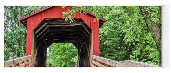 Sugar Creek Covered Bridge Yoga Mat