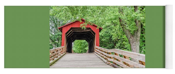Sugar Creek Covered Bridge Yoga Mat