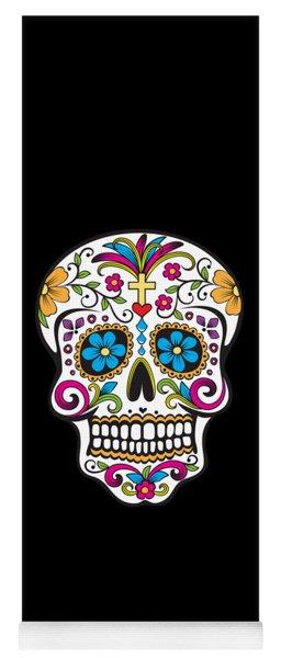 Sugar Skull Day Of The Dead Yoga Mat