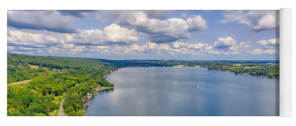 Summer Clouds On Keuka Lake Yoga Mat