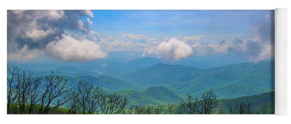 Summer Mountain View Yoga Mat