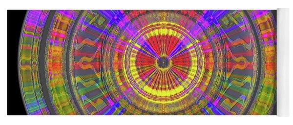 Yoga Mat featuring the digital art Sun 02112019 by Visual Artist Frank Bonilla