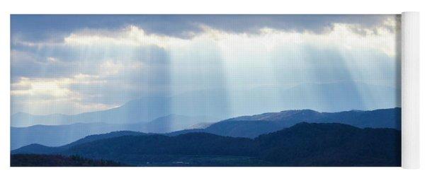 Light Breaking Through Clouds Yoga Mat
