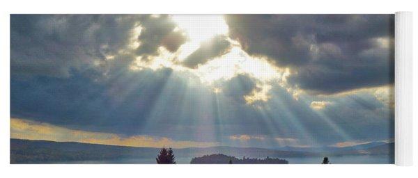 Sun Rays Over Rangeley Lake Yoga Mat
