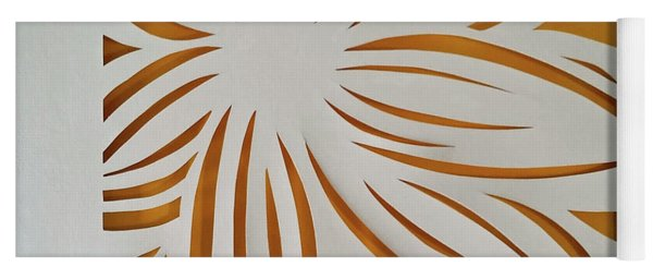 Yoga Mat featuring the mixed media Sunburst Petals by Phyllis Howard