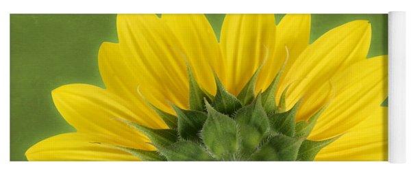 Yoga Mat featuring the photograph Sunflower Sunrise - Botanical Art by Debi Dalio