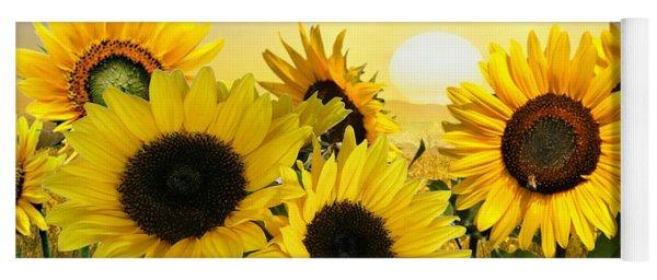Sunflowers And Sunshine Yoga Mat