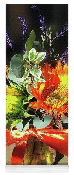 Sunflowers Fall Bouquet  Yoga Mat