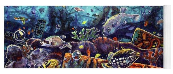Sunken Tiki Reef Yoga Mat