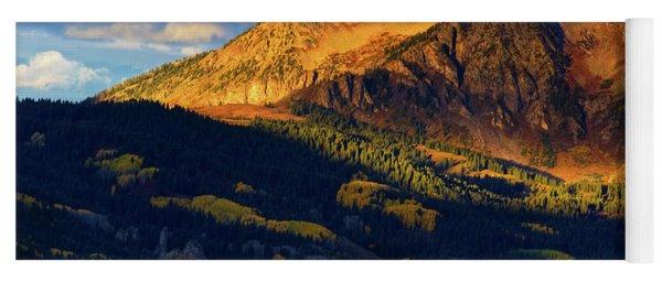 Sunlight Along The Mountain Yoga Mat