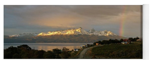 Yoga Mat featuring the photograph Sunrise Across Beagle Channel, Patagonia by Mark Duehmig