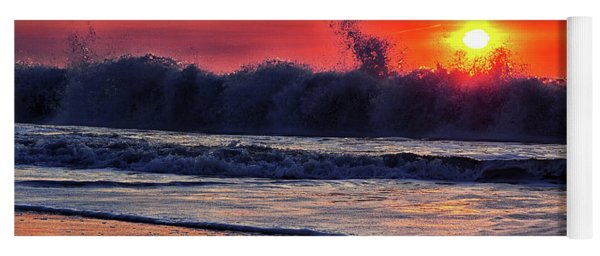 Yoga Mat featuring the photograph Sunrise At 142nd Street Beach Ocean City by Bill Swartwout Fine Art Photography