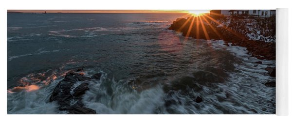 Sunrise At Portland Head Light Yoga Mat