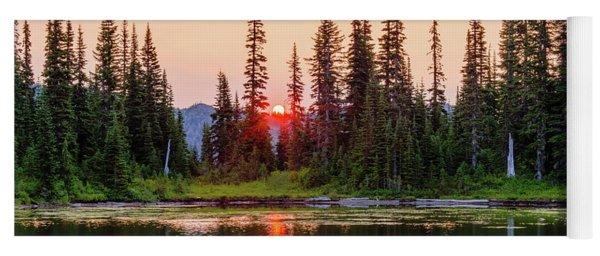 Sunrise From The Reflection Lake Yoga Mat