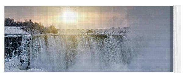 Sunrise In Niagara Falls Yoga Mat