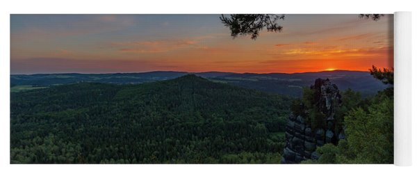 Sunrise In Saxon Switzerland Yoga Mat