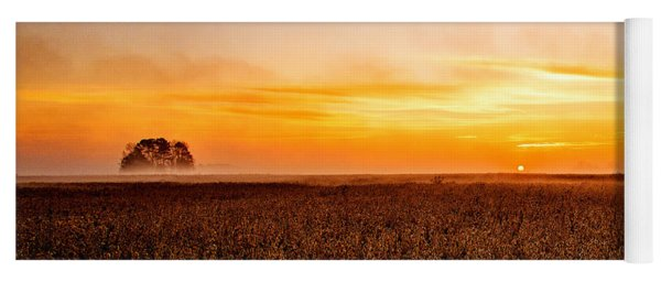 Sunrise In The Bean Field Yoga Mat