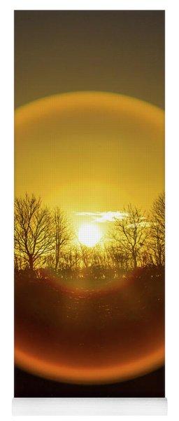 Sunrise. New Years Eve. Yoga Mat