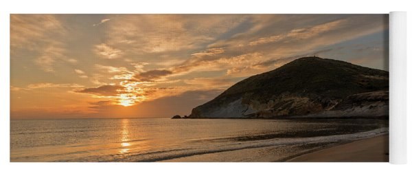 Sunrise On The Beach Of The Genoveses Of Cabo De Gata Yoga Mat