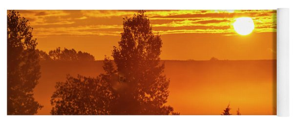 Sunrise On The Canadian Prairies Yoga Mat