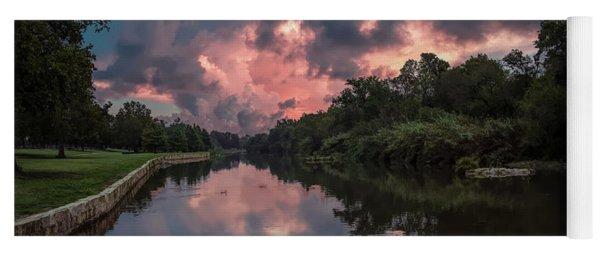 Sunrise On The River Yoga Mat