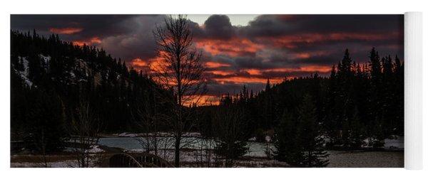 Sunrise Over Cascade Ponds, Banff National Park, Alberta, Canada Yoga Mat