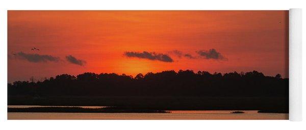 Sunrise Over Drunken Jack Island Yoga Mat