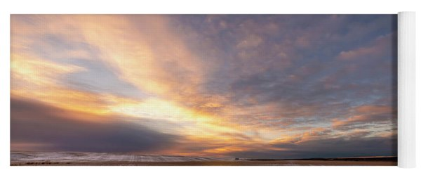 Sunrise Over The Stubble Yoga Mat
