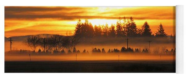 Sunrise Over The Wetlands Yoga Mat