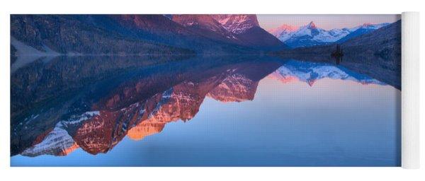 Sunrise Refelctions Across St. Mary Lake Yoga Mat