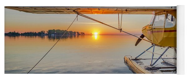 Sunrise Seaplane Yoga Mat