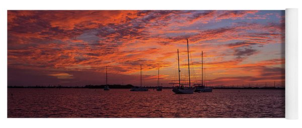 Yoga Mat featuring the photograph Sunset Across The Keys by Mark Duehmig