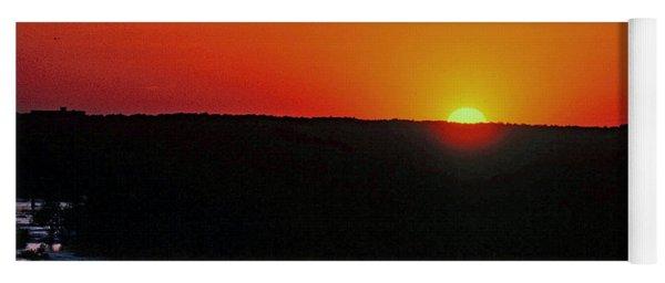 Sunset Along The James River Yoga Mat
