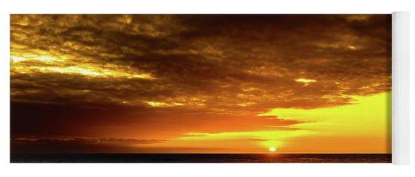 Sunset And Surf Yoga Mat