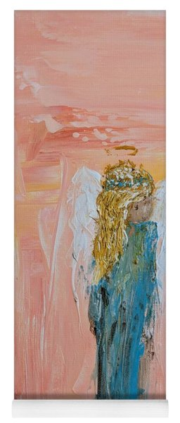 Sunset Angel Yoga Mat