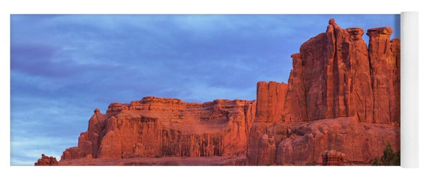 Yoga Mat featuring the photograph Sunset At Arches by Sharon Seaward