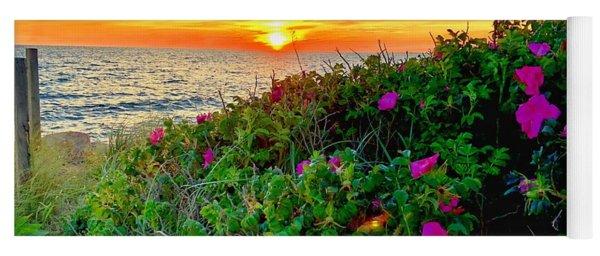 Sunset At Campground Beach  Yoga Mat