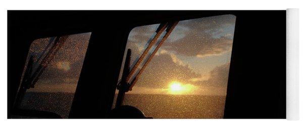 Sunset At Sea Yoga Mat