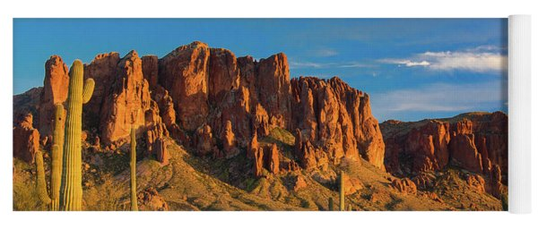 Sunset At Superstition Mountain Yoga Mat