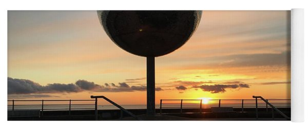 Sunset At The Mirror Ball In Blackpool, Uk 04/2018 Yoga Mat