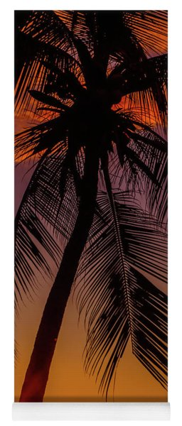 Sunset At The Palm Yoga Mat