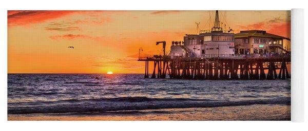 Sunset At The Pier Yoga Mat