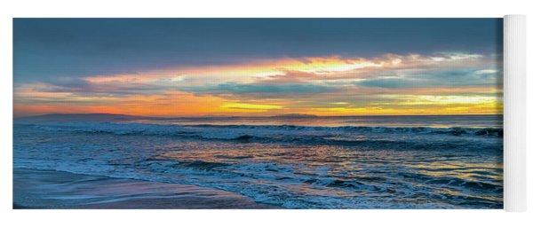Sunset Fire Over Catalina Island 2 Yoga Mat
