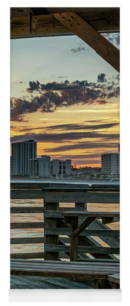 Sunset From Cherry Grove Pier Yoga Mat